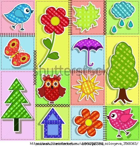 stock-vector-patchwork-with-birds-and-birdhouses-baby-seamless-background-109992380 (450x470, 224Kb)