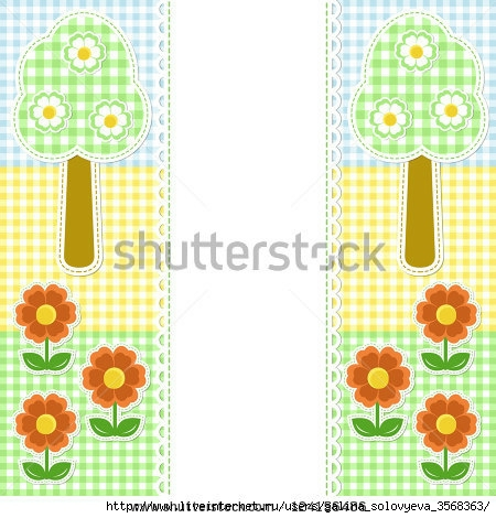 stock-vector-spring-frame-with-flowers-on-textile-background-124156486 (450x470, 152Kb)