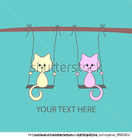 stock-vector-cute-vector-card-with-two-little-kittens-on-swings-110045114 (450x470, 58Kb)