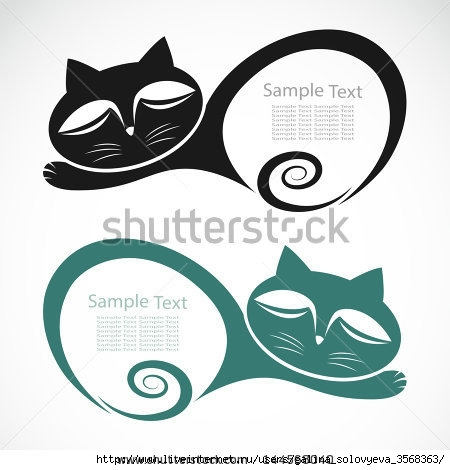 stock-vector-the-design-of-the-cat-on-white-background-144568040 (450x470, 85Kb)
