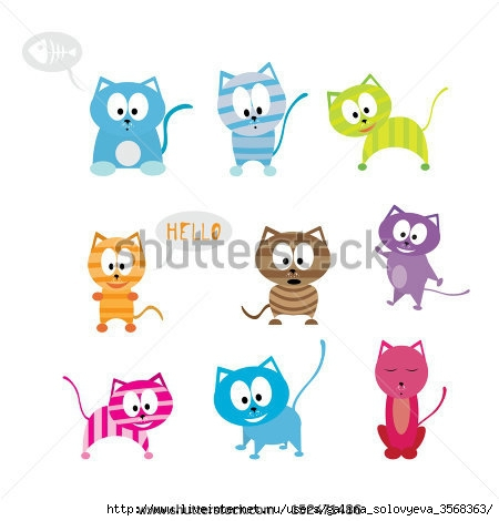 stock-vector-vector-cartoon-funny-cute-cats-152471486 (450x470, 81Kb)