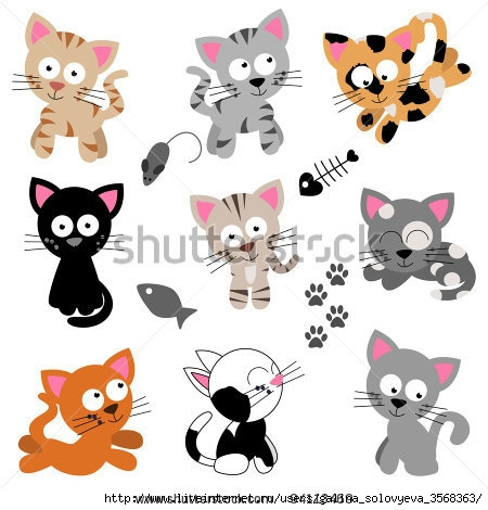 stock-vector-vector-collection-of-cute-cartoon-cats-94113469 (450x470, 110Kb)