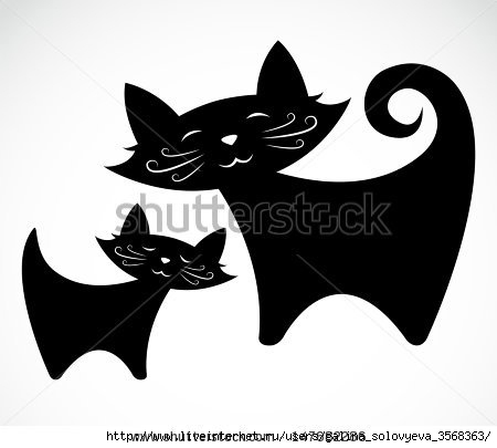 stock-vector-vector-image-of-an-black-cat-147682286 (450x405, 53Kb)