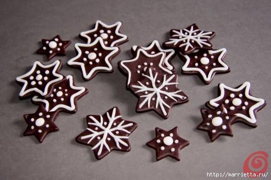 Рождественские звезды из полимерной глины (4) (530x353, 119Kb)