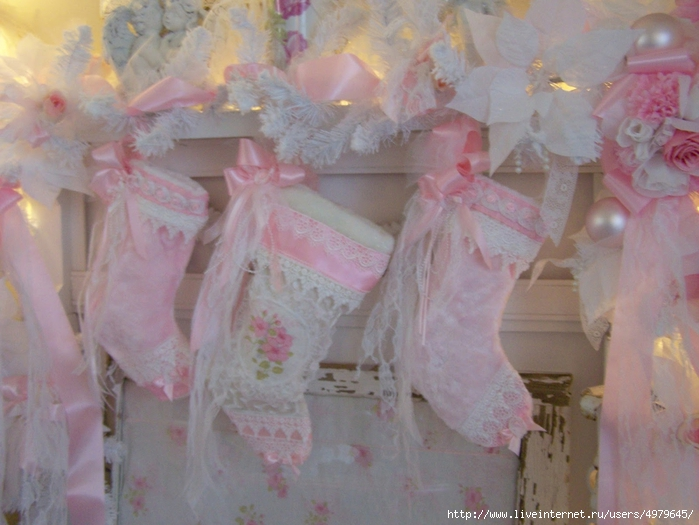 Shabby Chic Stockings mantel (700x525, 253Kb)