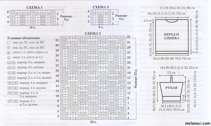пуловер-с-косами-схема (700x419, 337Kb)