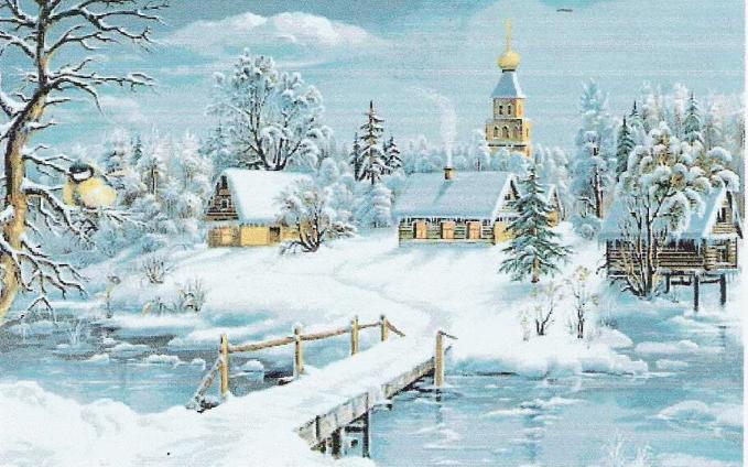 Зимний пейзаж.