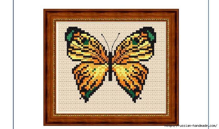 Любителям бабочек. ВЫШИВКА (7) (699x412, 159Kb)