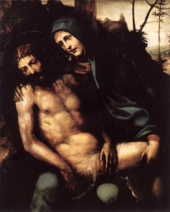 Пьета ок. 1540  Галерея Боргезе. Рим (562x700, 96Kb)