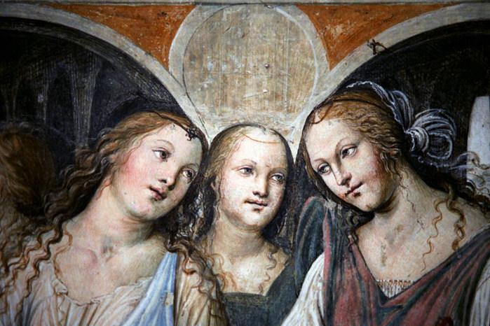 Monte Oliveto Maggiore  - Affresco di Giovanni Antonio Bazzi detto il Sodoma (700x466, 111Kb)