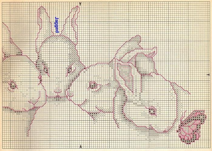 Схема для вышивки. КРОЛИКИ (3)