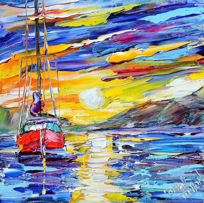 sunrise-sailing-karen-tarlton (700x699, 546Kb)