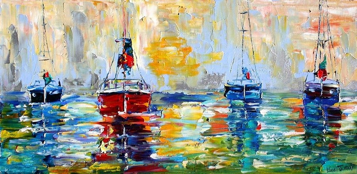 harbor-boats-at-sunrise-karen-tarlton (700x342, 252Kb)