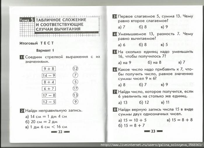 Контрольные работы по математике УМК Перспектива класс  Тест по математике 2 класс перспектива дорофеев