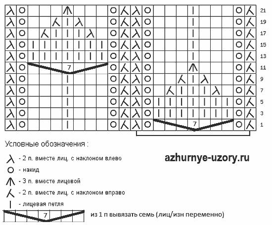 Shema-vyazaniya-22x11-spitsami (550x455, 8Kb)