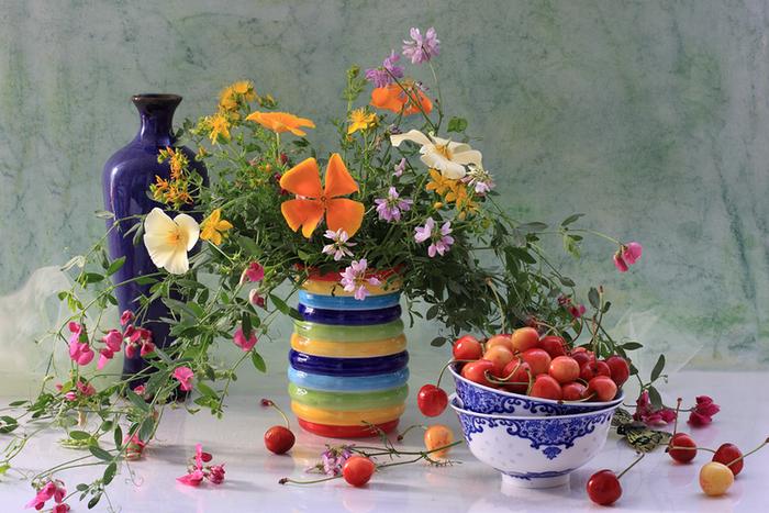 цветы и фрукты 4 (700x467, 590Kb)