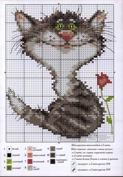 Серый котик (487x700, 128Kb)