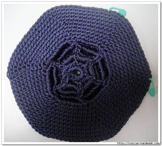 Вязание крючком. Сумочка с цветком (1) (630x568, 210Kb)