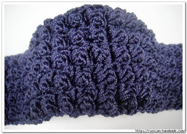 Вязание крючком. Сумочка с цветком (3) (630x451, 167Kb)