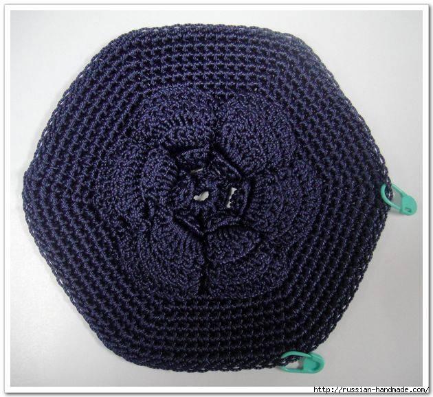 Вязание крючком. Сумочка с цветком (7) (630x578, 224Kb)