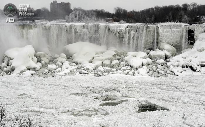 замерзший ниагарский водопад фото 1 (700x435, 253Kb)