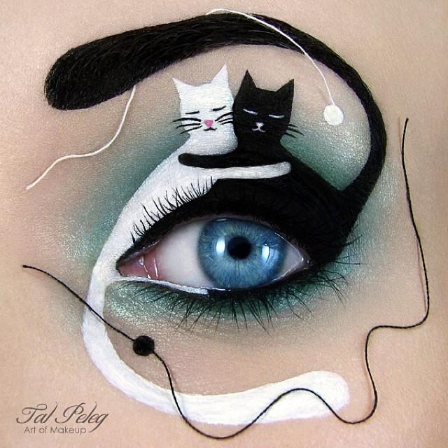 необычный макияж фото 2 (640x640, 277Kb)