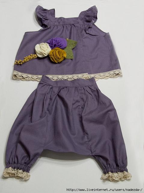 Сшить летний костюм для девочки своими руками