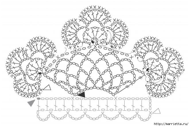 Корона крючком для полотенца в винтажном стиле