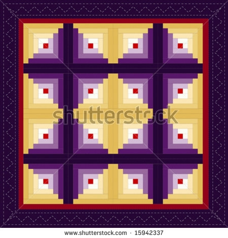stock-vector-vector-quilt-log-cabin-pattern-barn-raising-design-variation-in-magenta-and-red-note-stitching-15942337 (450x470, 113Kb)