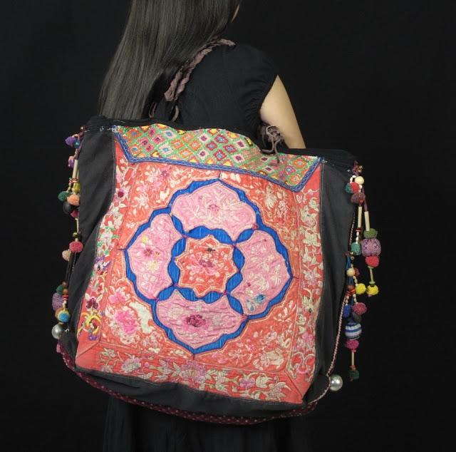 Antique Textile Hill Tribe Oversize women bag 2 (640x634, 240Kb)