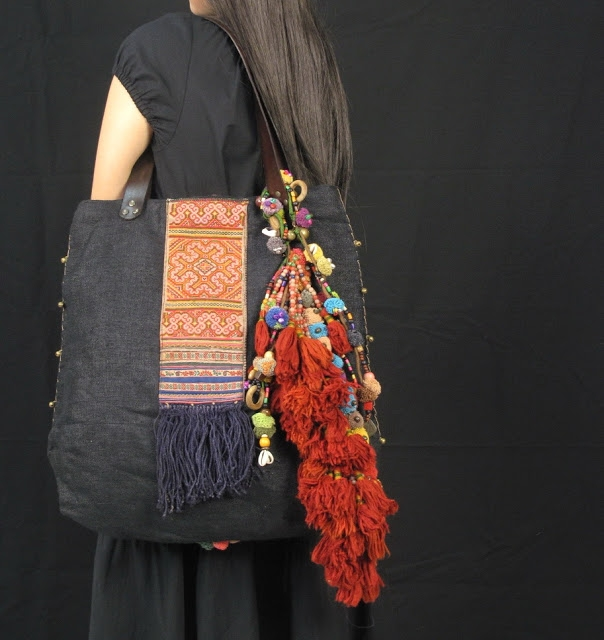 Black Hemp Hill Tribe Embellishment Hippie Boho Bag 2 (604x640, 190Kb)