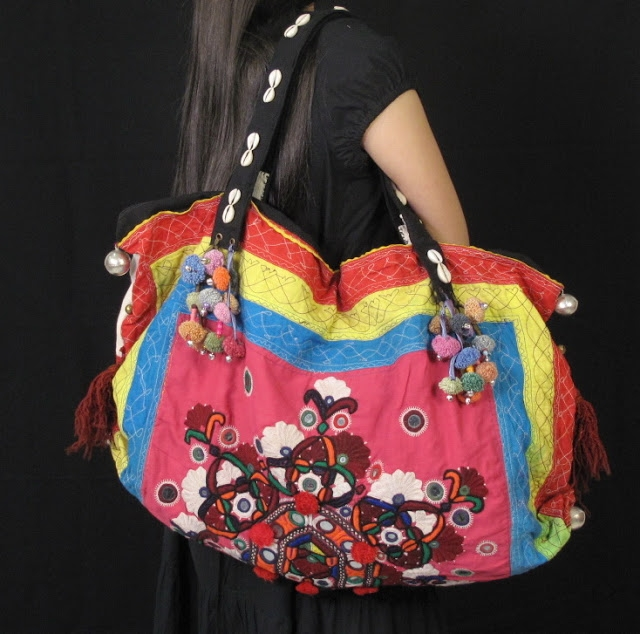 Vivid Hippie Bag Vintage Tribal Fabric 4 (640x634, 232Kb)