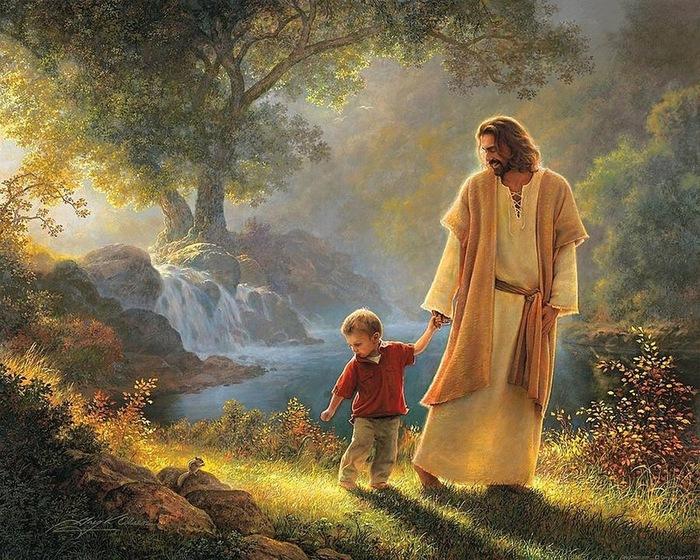 Картинки по запросу фото иисус ведет за руку