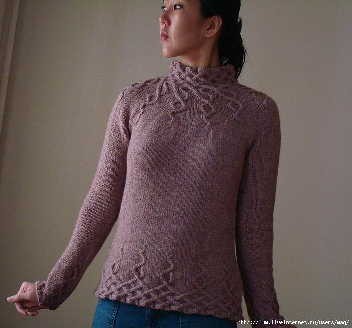свитер «Дикие волны»