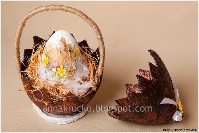 Скорлупка для пасхального яйца из папье маше. Мастер-класс (6) (700x468, 246Kb)