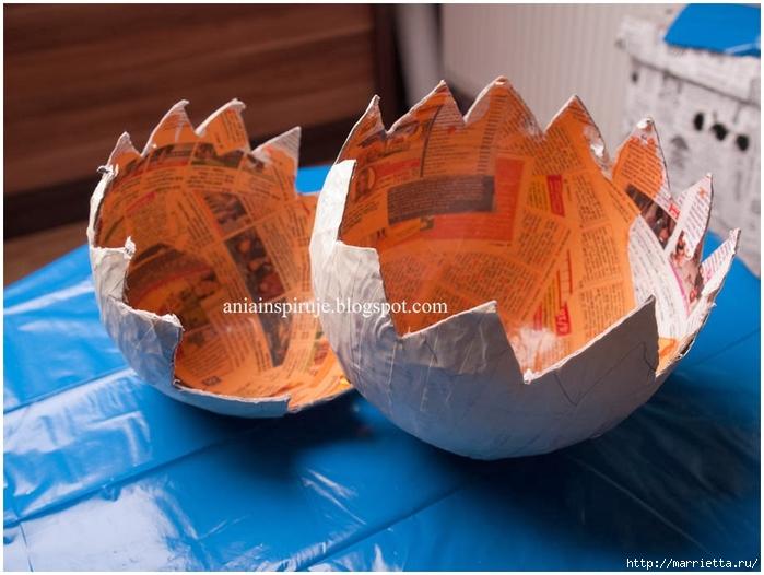 Большое яйцо папье-маше своими руками