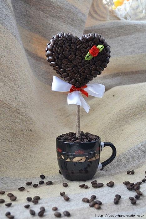 Кофейное сердце мастер класс
