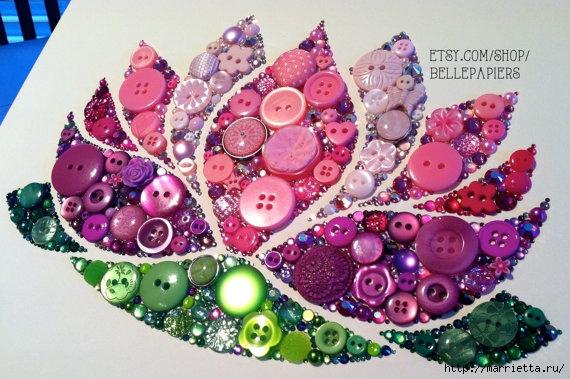 Невероятно красиво) Пуговицы, стразы, пайетки и бисер (41) (570x379, 197Kb)