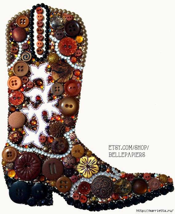 Невероятно красиво) Пуговицы, стразы, пайетки и бисер (71) (570x696, 252Kb)