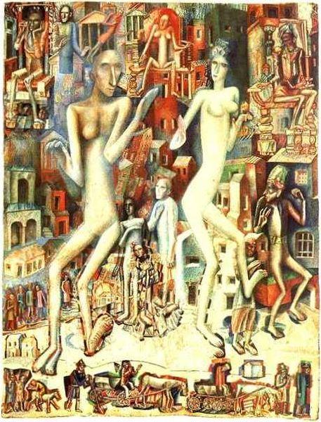 457px-Pavel_Filoнов Мужчина и женщина 1912 (457x600, 87Kb)