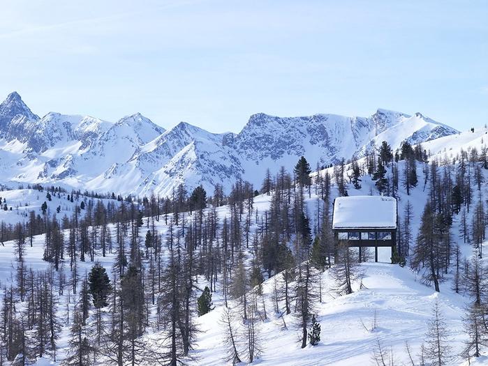 домик в горах фото (700x525, 306Kb)