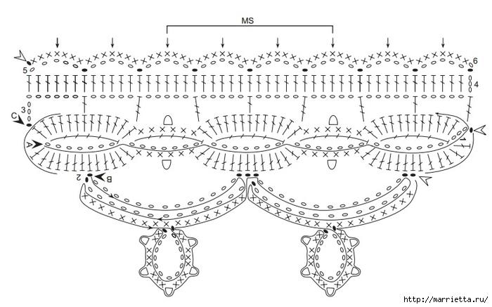 gancho del arnés con estilo.  Para manteles y servilletas (2) (700x437, 163KB)