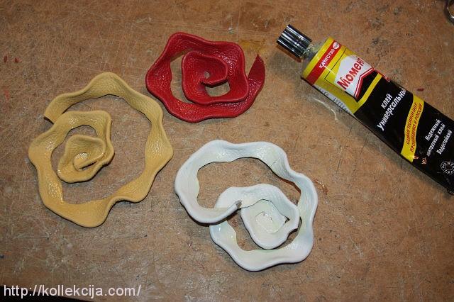 Как изготовить розу из кожи своими руками