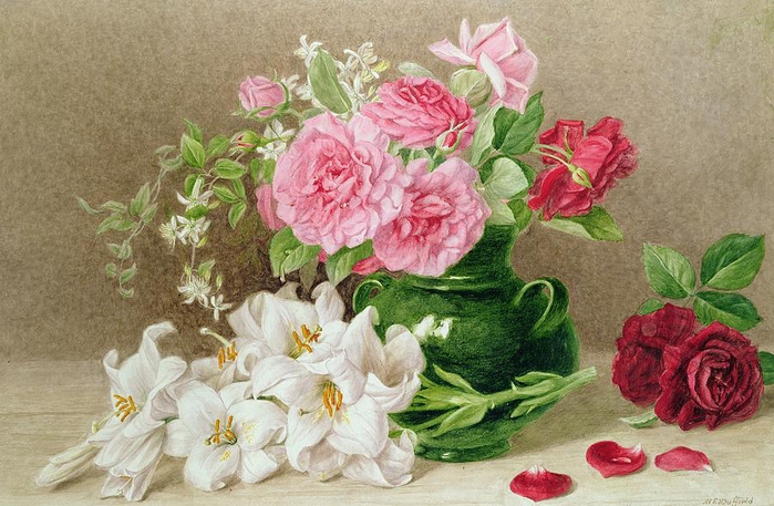 roses-and-lilies-mary-elizabeth-duffield (700x457, 277Kb)