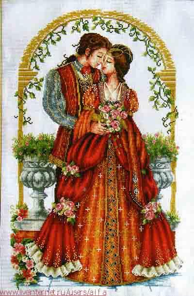 Вышивка крестом схемы Любовь