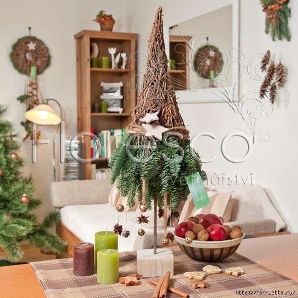 Рождественская флористика. Красивые идеи для праздничного интерьера (9) (600x600, 195Kb)