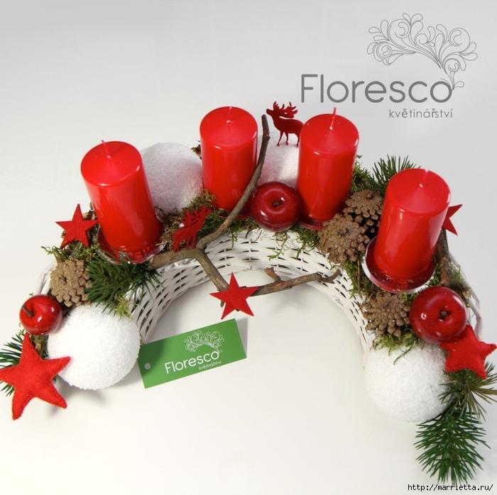 Рождественская флористика. Красивые идеи для праздничного интерьера (38) (700x698, 309Kb)