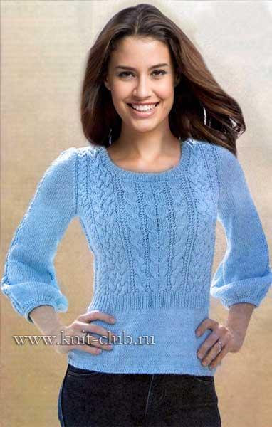 1388158936_vjazanie-spicami-zhenskij-pulover (382x600, 28Kb)