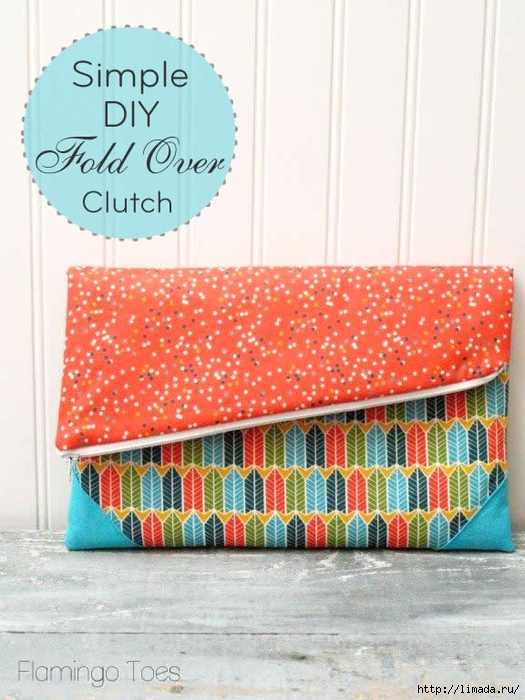 Simple-DIY-Fold-Over-Clutch (525x700, 277Kb)