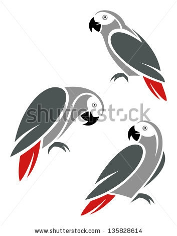 stock-vector-stylized-african-grey-parrot-135828614 (353x470, 49Kb)